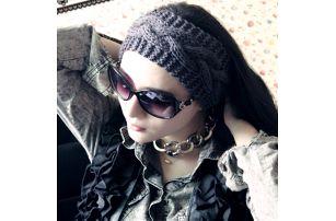 Pletená čelenka v šesti barvách