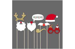 Rekvizity na focení Vánoční večírek