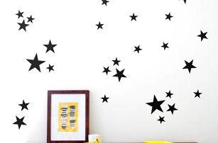 Dekorativní samolepka na zeď - hvězda - 110 ks