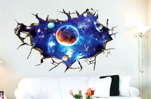 3D samolepka na zeď - pohled do hlubokého vesmíru