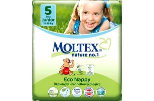 MOLTEX Nature no. 1 Junior, 26 ks (11 - 25 kg) – jednorázové pleny