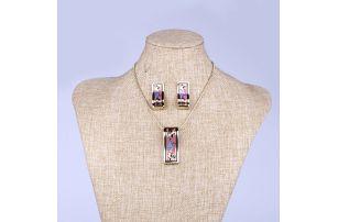 Fashion Icon Fashion Icon sada náhrdelník a náušnic s květinami