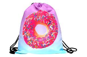 Vak na záda s moderními motivy - donut - dodání do 2 dnů
