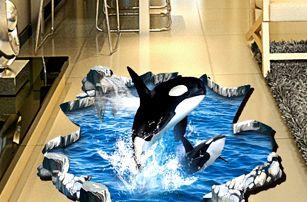 3D samolepka na podlahu - Dvě kosatky - dodání do 2 dnů