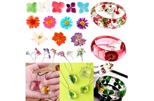 Sušené květiny pro výrobu šperků - 10 balení