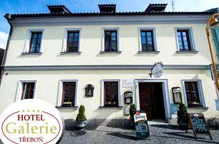 Pobyt pro dva s polopenzí v 4*hotelu Galerie Třeboň, lahev vína na pokoji, vstupenka do lázní Aurora