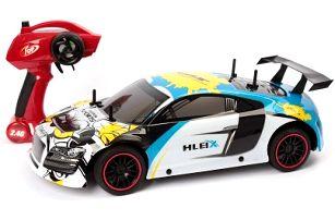 Velký RC model závodního auta modro-bílé