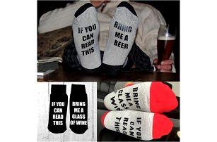 Ponožky pro pivaře nebo milovníka vína
