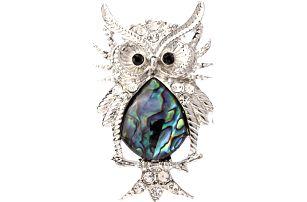 Fashion Icon Brož sova s Paua perletí