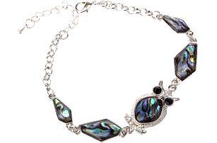 Fashion Icon Náramek sova Paua perleť