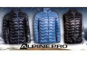 Pánské zimní péřové bundy a vesta Alpine Pro