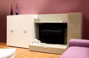 Fizzy 05 - Obývací stěna (Bianco/Titanio)