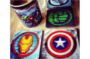 3D Marvel podtácky 8 ks