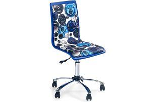 Dětská židle FUN-8, bílo-modrá