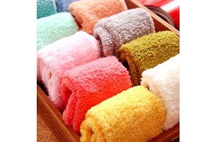 Dámské chlupaté ponožky - mnoho barev