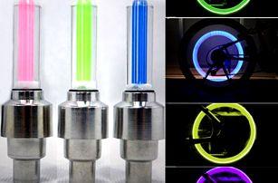 Svítivé ventilky na kolo - 2 kusy