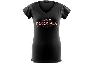 Divja Nejsem dokonalá tričko dámské černé - L