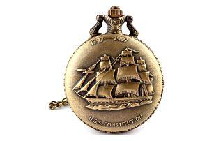 Retro kapesní hodinky USS Constitution
