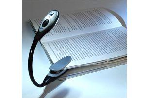 LED lampička na knížku - bílá