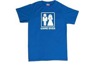 Tričko - GAME OVER - modré - S