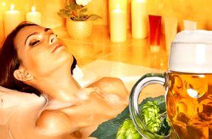 Naložte se do pivní lázně: relax s polopenzí