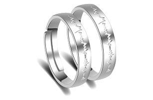 Prsten s výřezem v podobě srdečního tepu