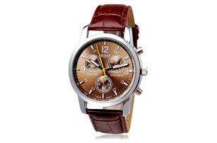 Pánské hodinky s páskem z umělé kůže - dodání do 2 dnů