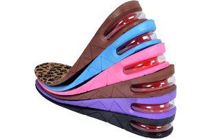 Zvyšující vložky do bot se vzduchovou patou - 6 barev