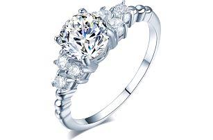 Dámský prsten s čirými kamínky - 2 barvy