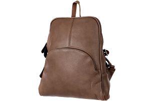 Koženkový batoh khaki