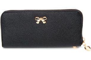 Podlouhlá peněženka s mašličkou - 8 barev