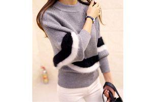 Dámský svetr s pruhy a netopýřími rukávy Lizbeth