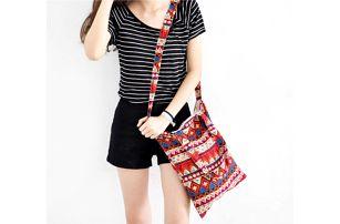Dámská taška přes rameno s geometrickými tvary - 3 barvy