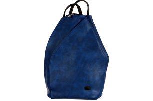 Asymetrický koženkový batoh modrá/černá