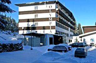 Lyžařský pobyt ve Sporthotelu Olympia pro dva s polopenzí na 4 dny, v lokaliě Zadova - Churáňova.
