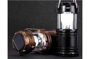 LED svítilna se solárním dobíjením - zatahovací