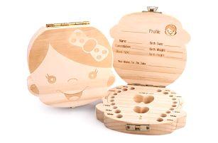 Úložná krabička na mléčné zoubky - holka/kluk