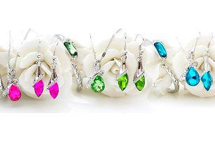 Elegantní 3 dílná sada šperků s krystaly