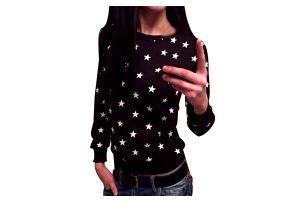 Dámská mikina s hvězdičkami - 3 barvy