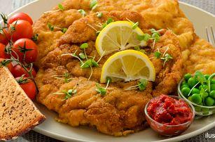 1,2 kg vepřových a kuřecích miniřízků s pečivem