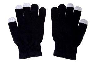 Zimní rukavice na dotykový displej - černá barva - dodání do 2 dnů