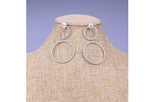 Fashion Icon Náušnice kruhy krystalky