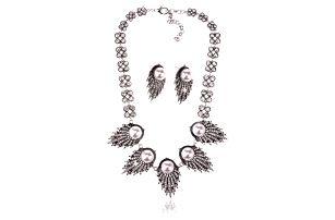 Fashion Icon Sada listy náhrdelník a náušnice