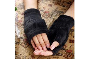 Dámské rukavice bez prstů - tmavě šedá - dodání do 2 dnů