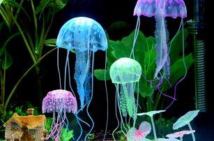 Dekorace do akvária - zářivé medúzy