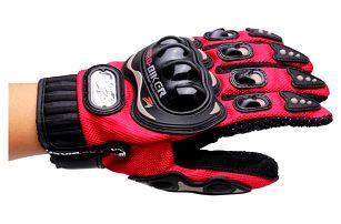 Motocyklistické rukavice - 4 barvy, 4 velikosti