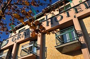 3denní wellness pobyt pro dva ve 4* Grand hotelu Třebíč, večeře při svíčkách, bazén, aj.