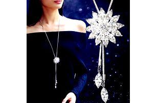 Dámský třpytivý náhrdelník v luxusním provedení - 3 barvy