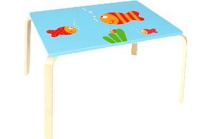 SCRATCH Dřevěný dětský stůl Rybička