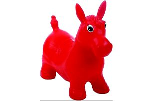 JOHN Hopsadlo Ponny 55x50 cm červený
